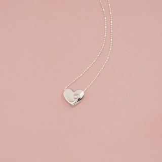 Smiling Sweetheart silver necklaces ─ pale pink ceramic beads