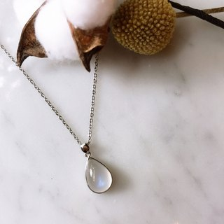 *ONLY ONE*Blue Moon :: Blue Halo Cream Moonstone Sterling Silver Necklace