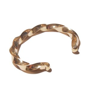 Brass twisted bracelet - Brass Twist Band - Wide Edition