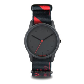 "HYPERGRAND - 01 Basic Series - ""LO-FI"" MONO RED Single Red Metal Watch"