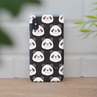 iphone case pattern panda on black for iphone5s,6s,6s plus,7,7+, 8, 8+,iphone x