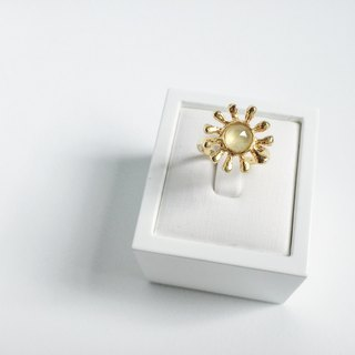Martin's Secret || The Sun daily. Ring in gold-plated sterling silver prehnite manual