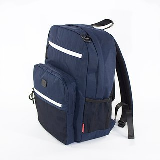 Water-repellent Nylon Multipurpose Backpack / Navy