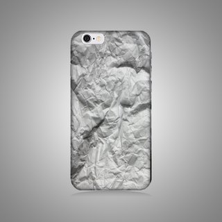 Empty shell series - white wrinkle original mobile phone case / protective cover (hard shell)