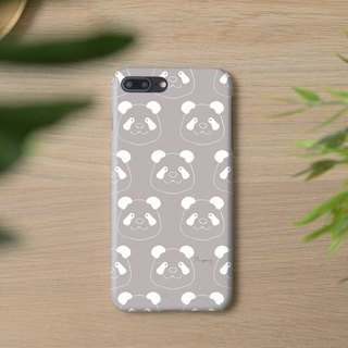 iphone case gray panda pattern for iphone5s,6s,6s plus,7,7+, 8, 8+,iphone x