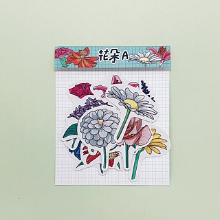 Flower A / Sticker (bright face)