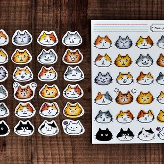 DIY Cat sticker- Simili paper / Collage / Notepad / DIY sticks