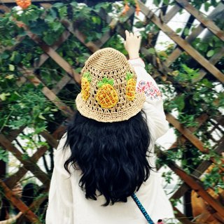 Crocheting Raffia BucketHat