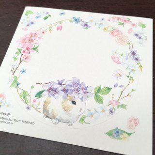 Corolla bunny round sticker - purple