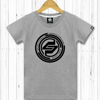 STATELYWORK Concentric Circle LOGO T-Female Grey Short T桖