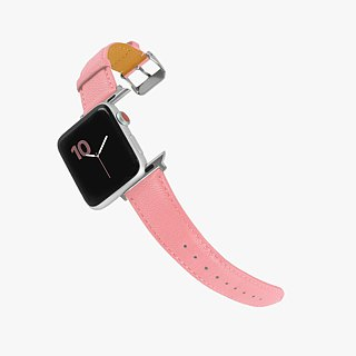 Multicolor Genuine Leather Goatskin Series Macaron Dream Pink Apple Watch Apple Watch Strap