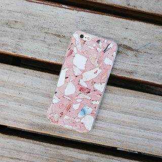 Original Red Terrazzo Phone case (iPhone,Samsung model) with hard shell frosted back case