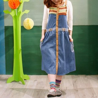 ☆ Hammock ☆ 彡 Denim Salopette Skirt