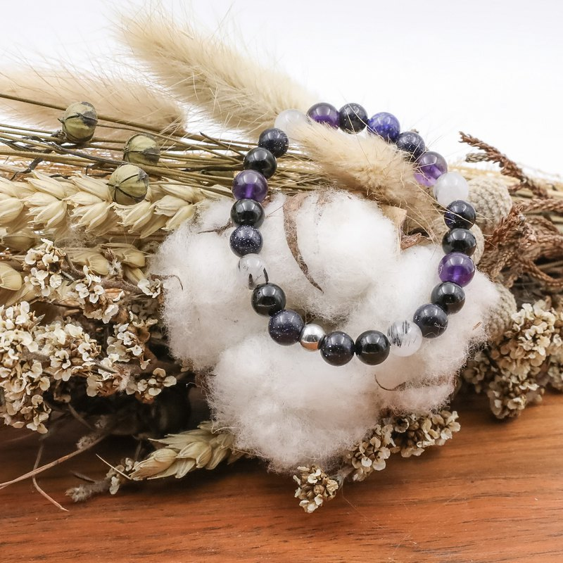 Children's remarks | kids models amethyst black hair crystal black agate medical ball health growth blessing natural stone bracelet