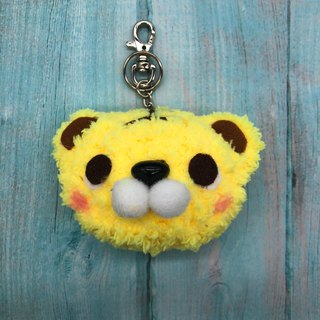 Tiger - chubby wool animal key ring charm
