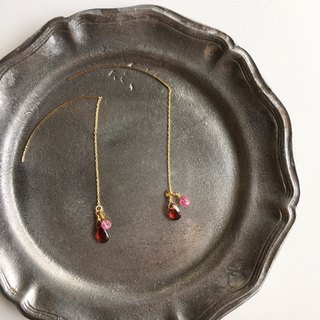 Elegant Ruby and Garnet pierces
