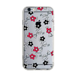 Red and black flowers - Samsung S5 S6 S7 note4 note5 iPhone 5 5s 6 6s 6 plus 7 7 plus ASUS HTC m9 Sony LG G4 G5 v10 phone shell mobile phone sets phone shell phone case