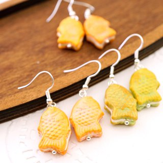 **Playful Design** Miniature Taiyaki Earrings