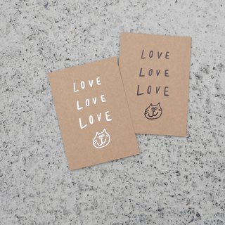 LOVE & PEACE hot black/silver card postcard with envelope