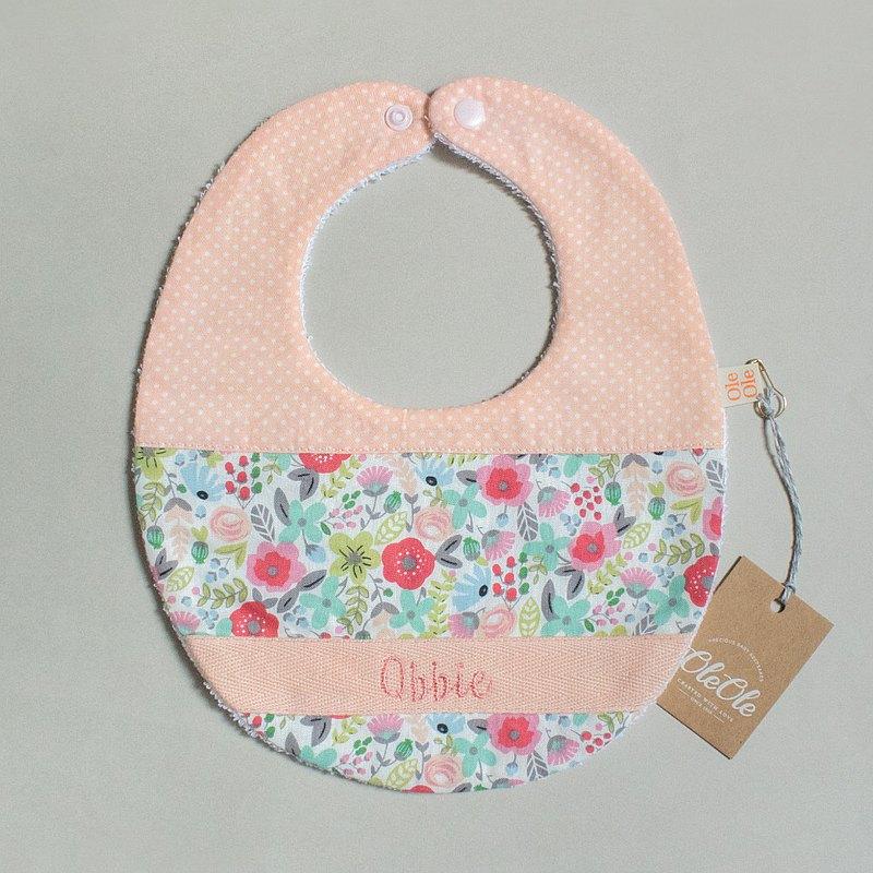 繡名 客製名字 圍兜 口水巾 口水肩 彌月禮盒 寶寶 嬰兒 田園風