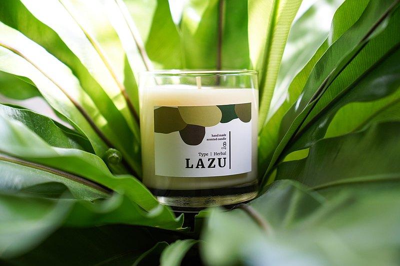 LAZU 草系列 / 羅勒血橙 / 大豆香氛蠟燭