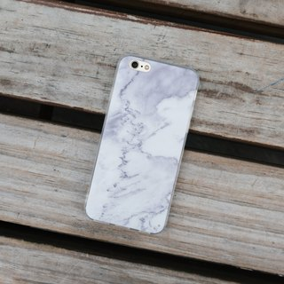 Original White 1 Real Marble Phone case (iPhone,Samsung model) with hard shell back case