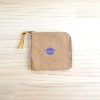 [Q-cute] Washed Kraft Paper Series - Short Clip - Saturn
