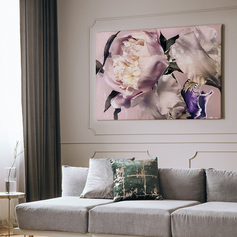 Flowers vying in beauty - Wall Art, Home Decor, Botanical Prints, Flower Prints