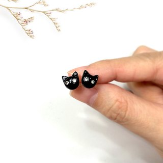 Tiny Black Cat Earrings, Cat Stud Earrings, cat lover gifts