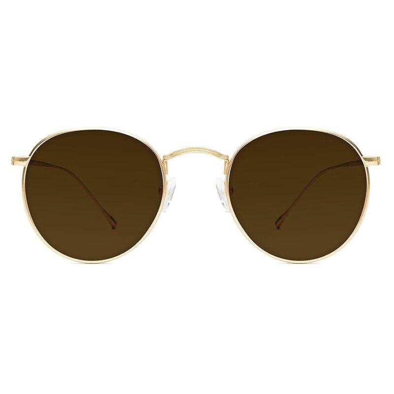 墨鏡 | 太陽眼鏡 | 超輕量金色圓框造型 | 義大利設計 | 金屬鏡框