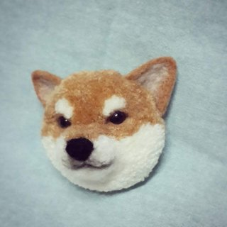 [羊乐多X wool felt animal ぽんぽんpompom huangchai dog does not lick the tongue brooch
