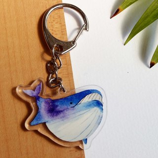 Star Whale / Acrylic Charm / Double-sided Printing / Key Ring
