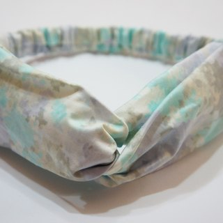 Mist textured fabric / handmade elastic hair band