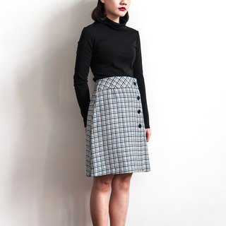 Vintage classic plaid vintage wool skirt