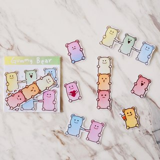 Gummy candy / transparent sticker
