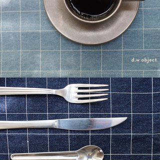 denim placemat - square