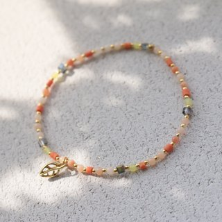 Agate brass bracelet 0405 - small bird