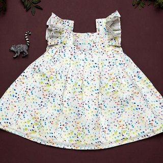 ROLY PONY Rainbow Sugar Lotus Leaves Sleeveless Dress