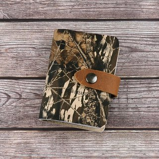 (U6.JP6 handmade leather goods) Camouflage leather / card sets, credit card, card storage bag, credit card holder, business card this