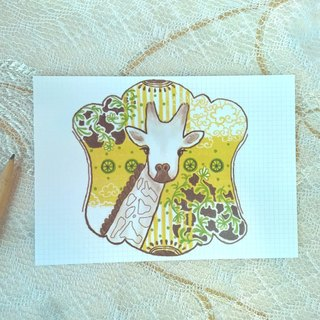 <Animals in the Secret Land>Giraffes are always dreaming postcard
