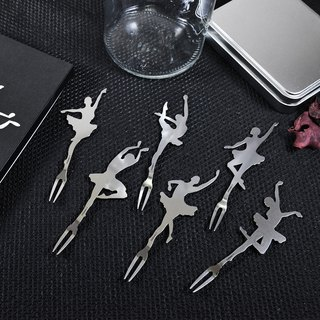 【Desk + 1】 Chief ballet fruit fork - hardcover version (six into the group)