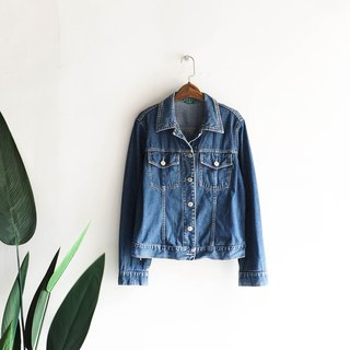 Hiroshima youth love summer blue ocean antique cotton denim shirt jacket coat vintage