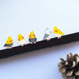 ✦Pista hill hand painted earrings ✦ Animals - Hyun Phoenix Parrot