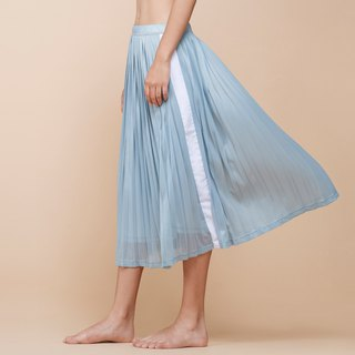 [MACACA] Waltz Pleated Skirt - BQE8102 Light Blue