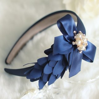 Glamorous Ribbon with Pearl Flower Headband