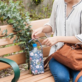 Mini bag - loaded with drinks, with umbrella, good storage - flowers