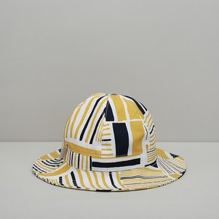 Reduce the simple fisherman hat / tin house yellow blue