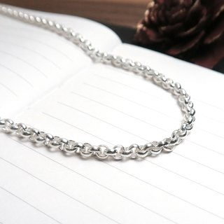 Matching chain - 925 silver chain minimalist version small round chain 3.7mm medium width 20~32 inches custom length