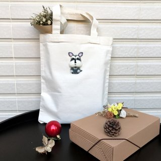 Small eight _ _ Schnauzer canvas bag _ Spring Festival increase canvas bag