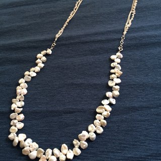 Home Design 100% Handmade 925 Silver Rain Season Series 16 吋 16 吋 Freshwater Recycled Pearl Necklace